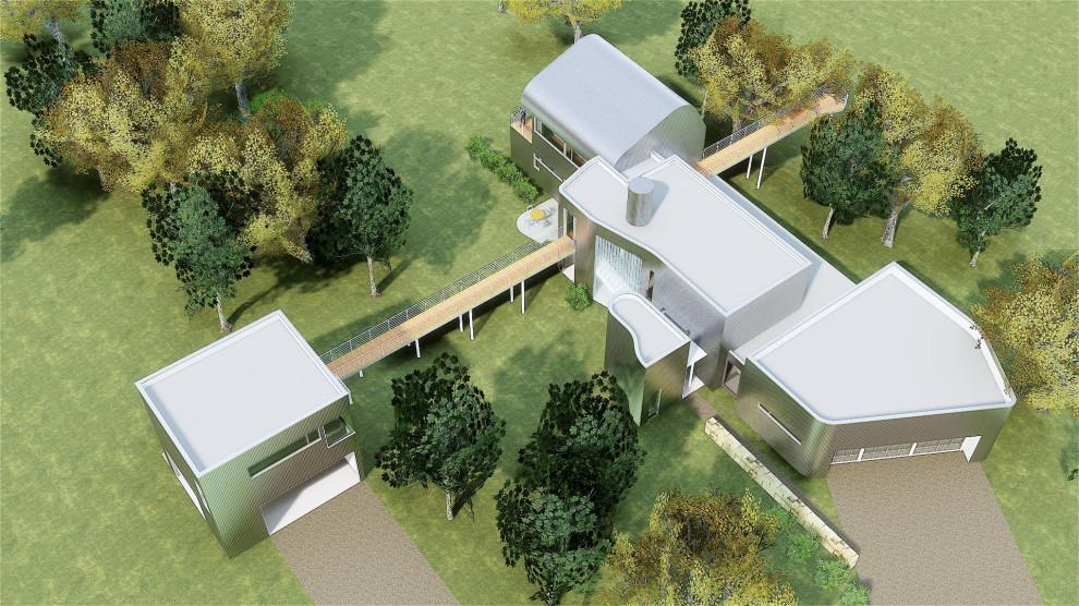 Home design - industrial home design idea in Austin