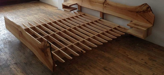 Edge Live Edge Bed Rustic Beds Toronto By