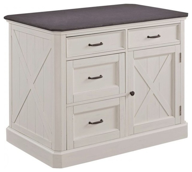 Home Styles Seaside Lodge Kitchen Island in Off White