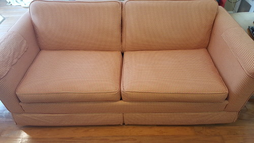 Styling An Ugly Couch.