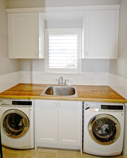 Collaroy Plateau Project Laundry Timber Bench Top