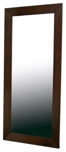 Bowery Hill Floor Mirror, Light Cappuccino.