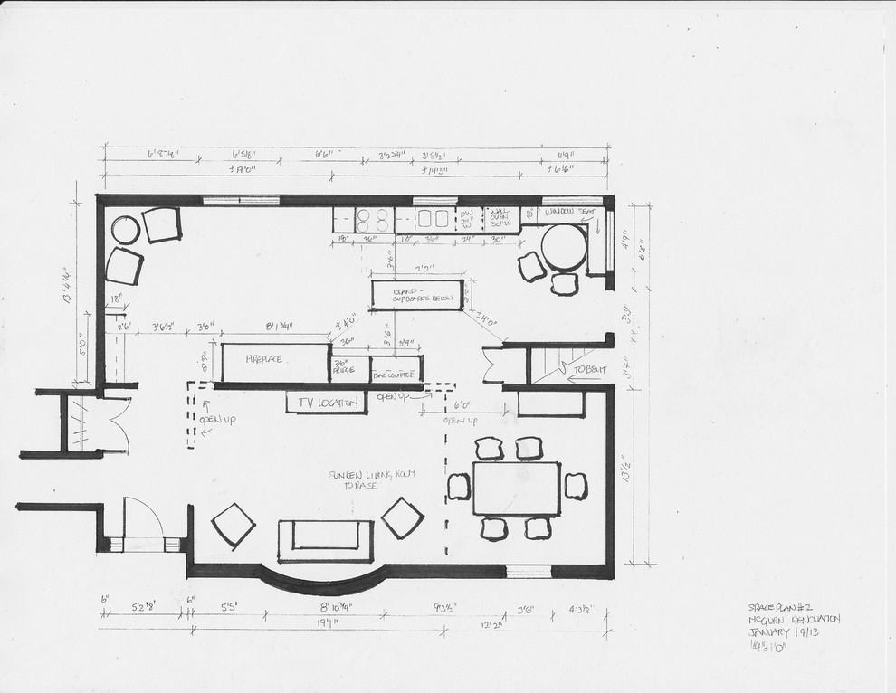 residential space plans- Tamworth, Ontario main floor space plan