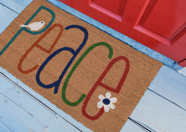 "Natura Peace Indoor/Outdoor Mat Natural 18""x30"""