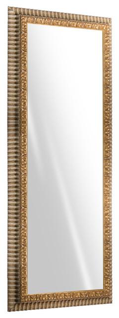"Treviso Gold Wall Mirror, 65""x24""."
