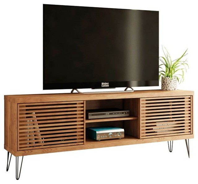 Rustic Country Flat Tv Stand With Metal Legs Frizz 180 Decor Furniture
