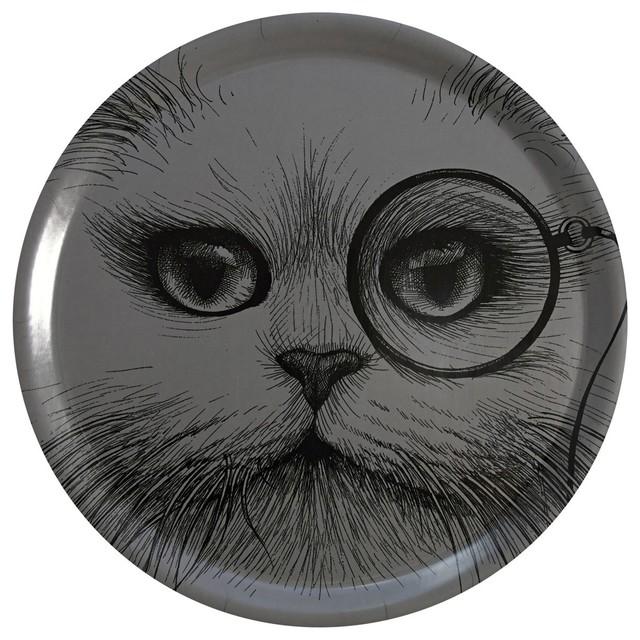 Cat Monocle Circular Tray