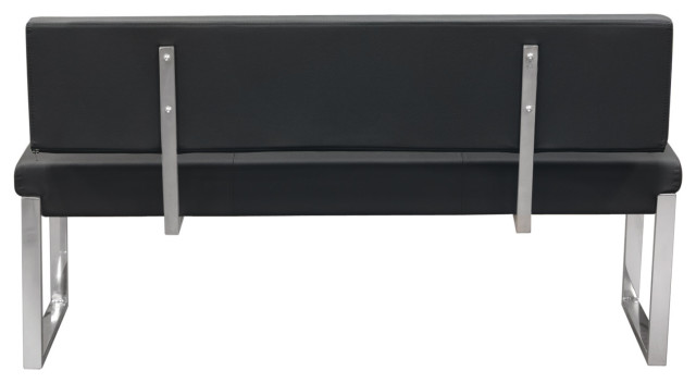 Knox Bench With Back And Stainless Steel Frame