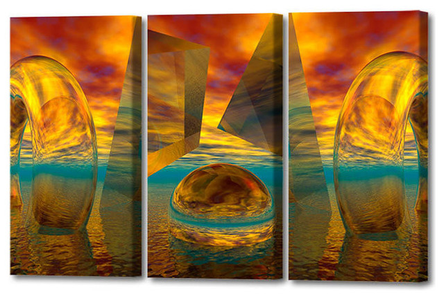 Sunset Triptych Limited Edition By Scott J Menaul