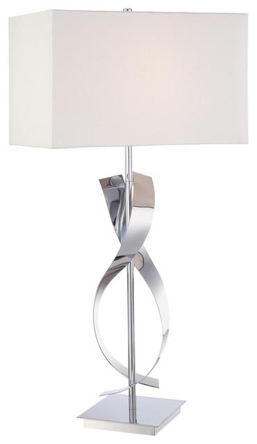 Signature 1-Light Table Lamps, Chrome.