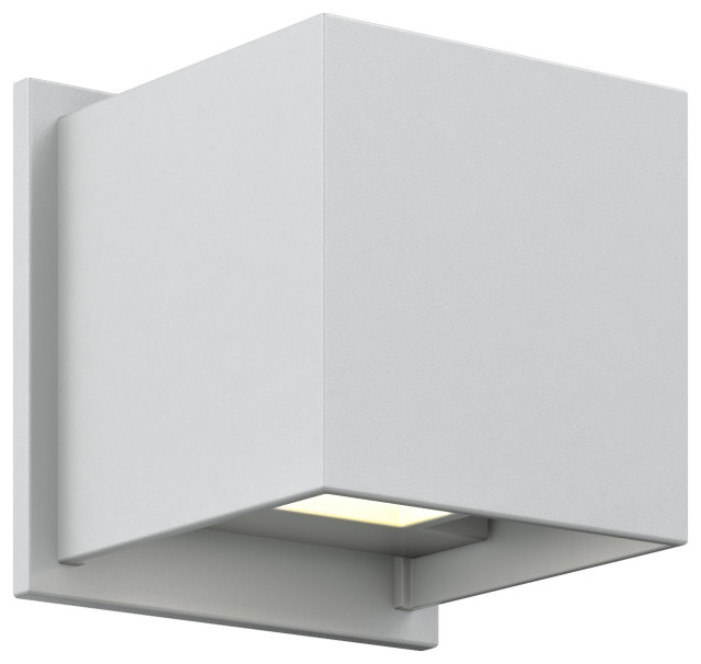 DALS Lighting LEDWALL002D-BK 4 Round Directional Indoor//Outdoor LED Wall Sconce Black