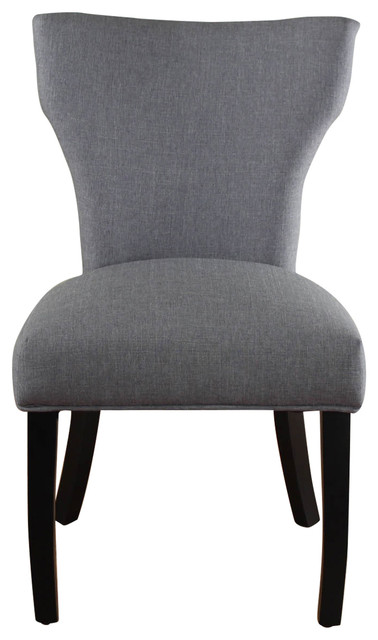 Shop Houzz Monsoon Pacific Nossa Gray Upholstered Chair Office Chairs