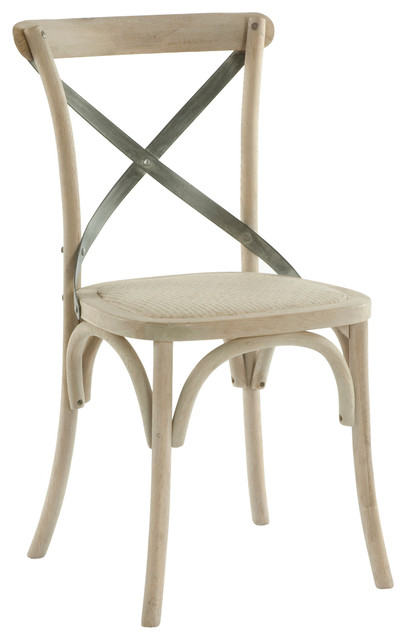 Superbe Pair Kasson French Country Paris Cafe Wood Metal Dining Chair