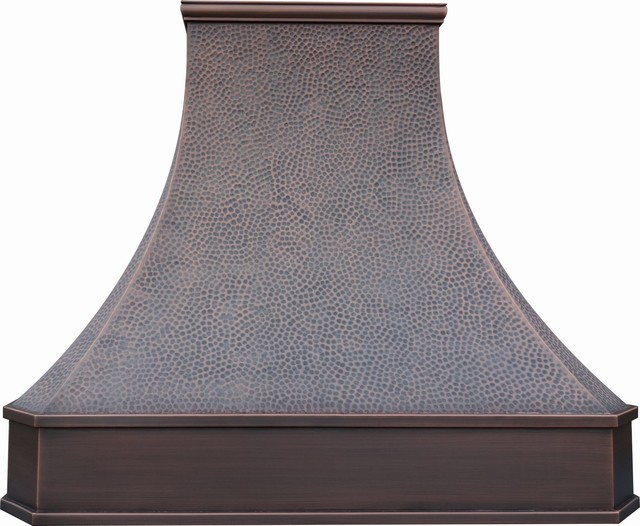 "Custom Copper Vent Hood 42"" - Contemporary - Range Hoods And Vents - by World CopperSmith"