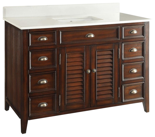 Awesome Tropical Bathroom Vanities And Sink Consoles by Chans Furniture