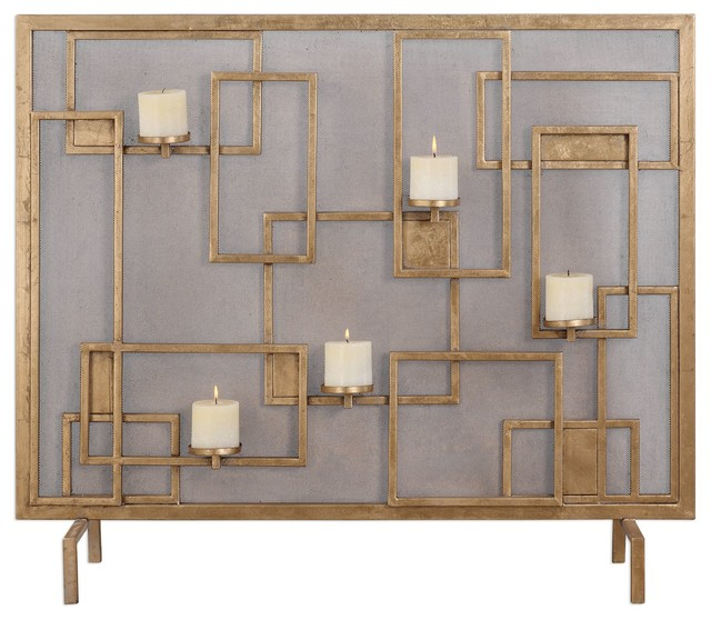 Uttermost Mara Fireplace Screen Candleholder