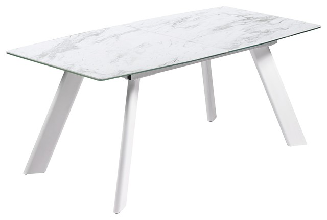 New Marble Porcelain Extendable Dining Table