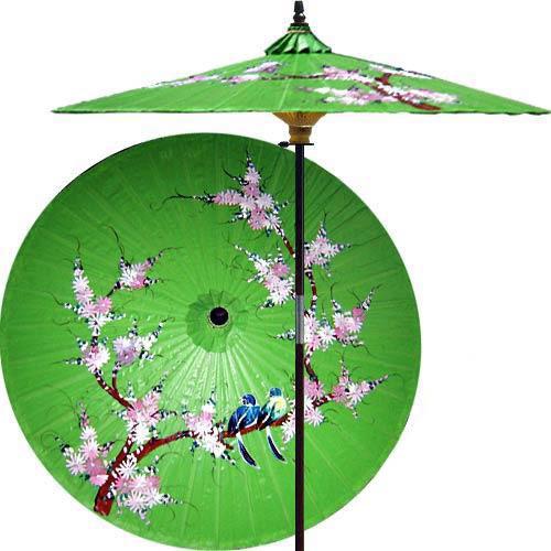 Ordinaire Song Birds Outdoor Patio Umbrella, Meadow Green