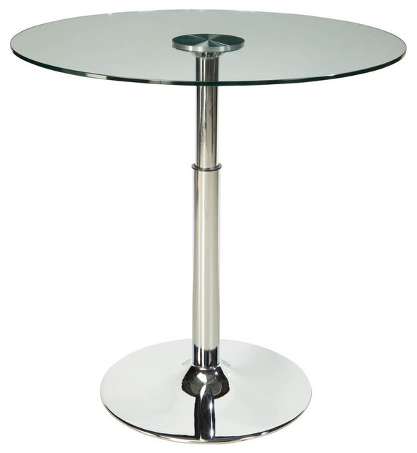 standard furniture cosmo round glass top dining table with fixed pedestal base dining tables. Black Bedroom Furniture Sets. Home Design Ideas