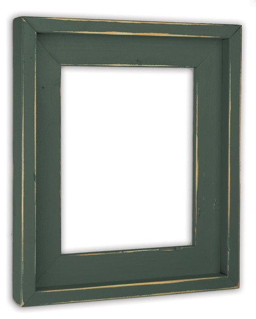 Farmhouse Hunt Club Green Picture Frame, Solid Wood - Rustic ...