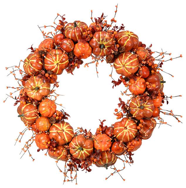 """24"""" Squash Pumpkin Wreath."""