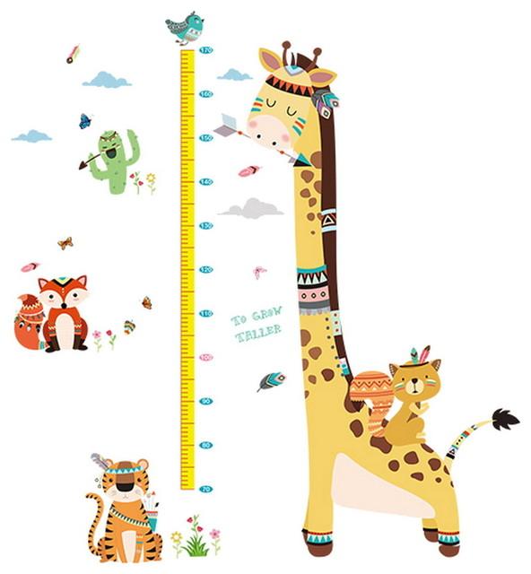 Sticker Child Room Kindergarten Wall Decor Stickers Height Ruler Sticker D Modern Growth Charts By Blancho Bedding Houzz