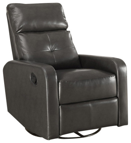Bonded Leather Swivel Glider Recliner Contemporary