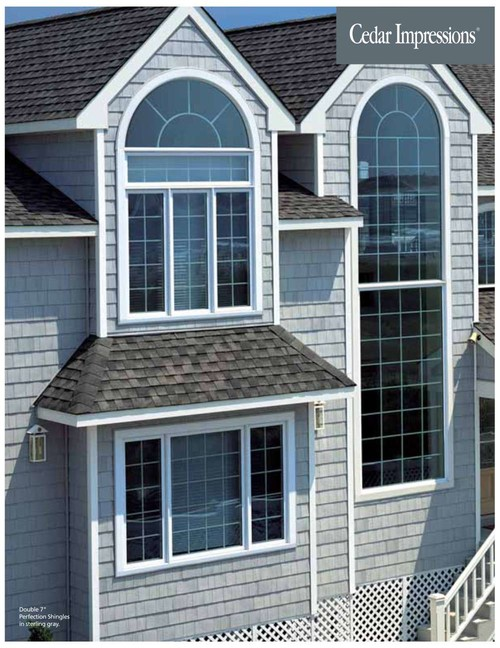 See sterling gray siding above with the same charcoal roof I'm installing.