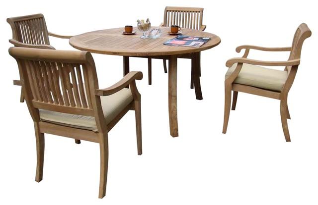 5-Piece Outdoor Teak Dining Set