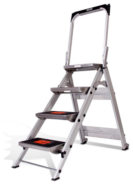 Magnificent Safety Step Model 4 Step Aluminum Stepstool Machost Co Dining Chair Design Ideas Machostcouk