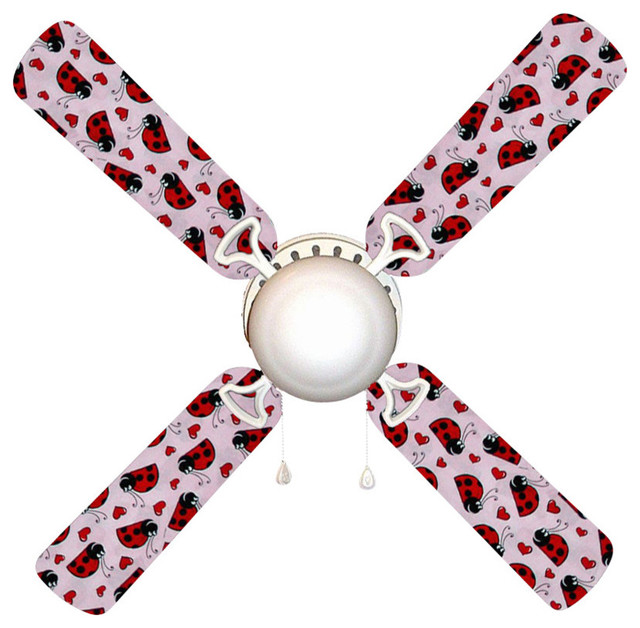 Ladybug Ladybugs 42 Quot Ceiling Fan And Lamp Contemporary