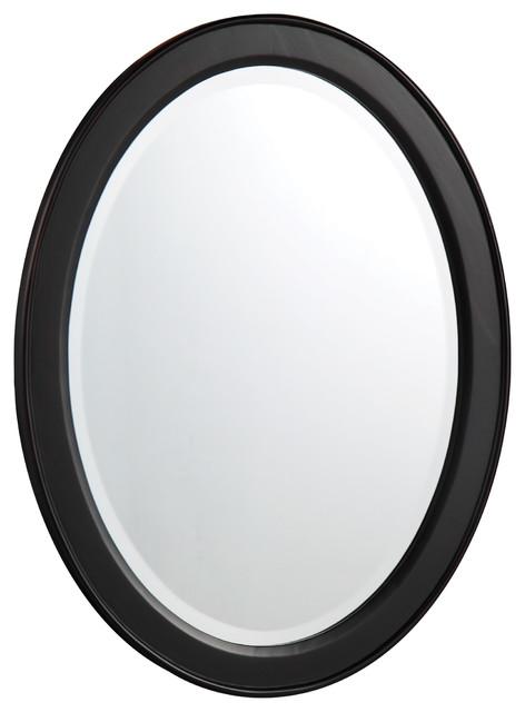 "Nayla 20"" Antique Black Mirror."