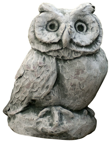 Merrie Little Owl Campania Cast Stone Animal Statue Garden Art