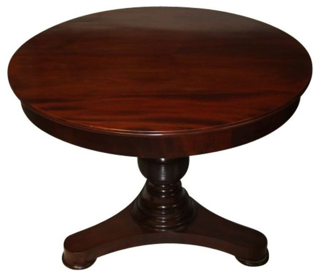 Antique Round Wooden Foyer Table 6 000 Est Retail 1 699 On Chairish