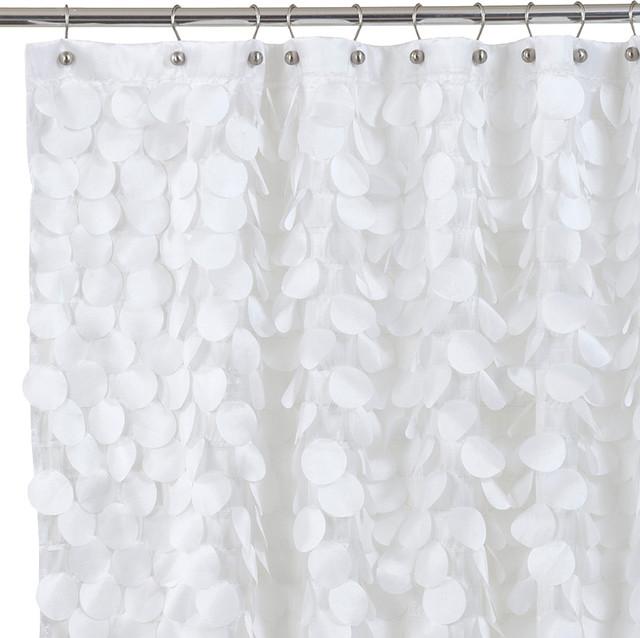 Gigi Fabric Shower Curtain, White