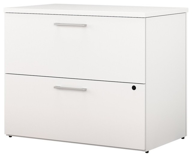 Superbe Bush Business 400 Series 36W 2 Drawer Lateral File Cabinet In White