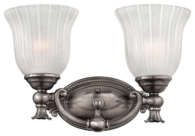 Victorian Bathroom Vanity Lighting francoise 2-light bathroom vanity light, polished antique nickel