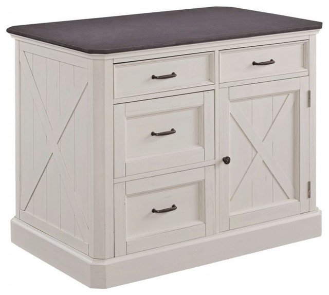 Hampshire Kitchen Island With 2 Stools.