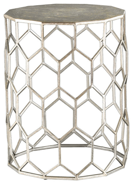 Stephany Metal Accent Table.