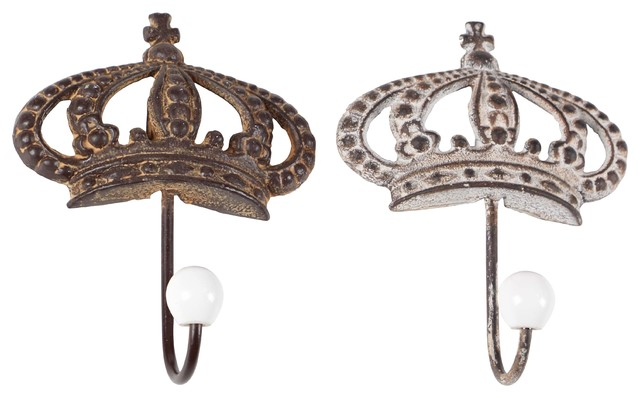 Craftsman Iron Crown Wall Hooks.
