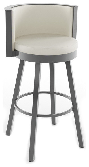 Stylish Curved Backrest Swivel Stool Modern Bar Stools