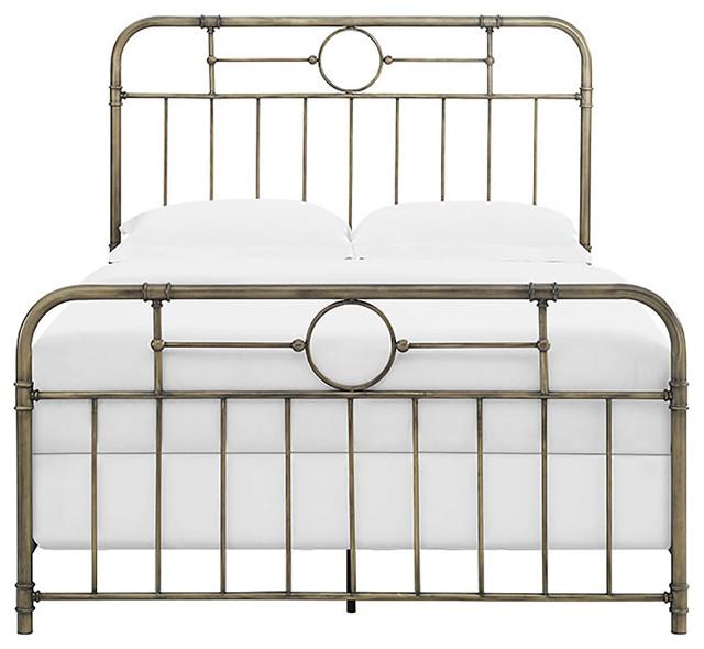 Queen Size Bronze Metal Pipe Bed.