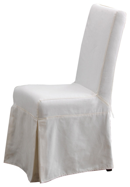Padmas Plantation Slipcover For Pacific Beach Dining Chair, Sunbleached White