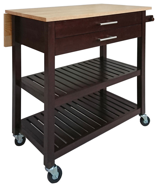 Winsome Langdon Home Solid Wood Kitchen Cart.