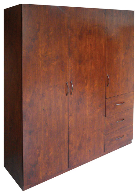 Garrett Wardrobe, Walnut - Contemporary - Armoires And Wardrobes - by Home Source Industries
