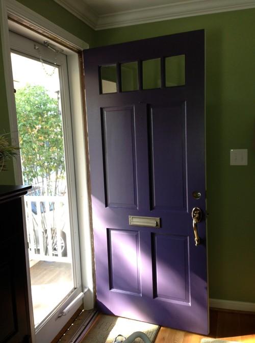 Need Help Matching Door Hardware To Purple Front Door