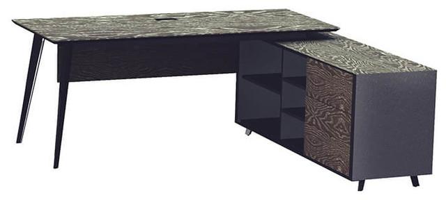 Oslo Executive Desk And Right Cabinet Gray.