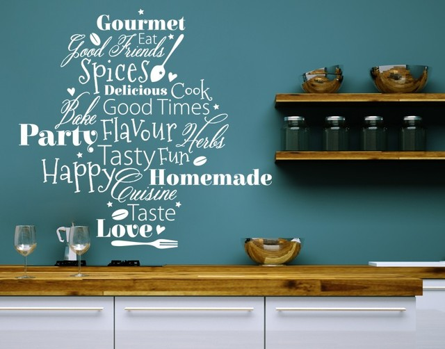 Kitchen Words Kitchen Wall Decals Sticker Mural Vinyl Art Home