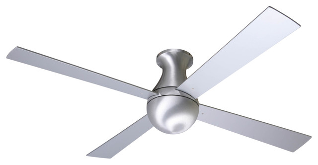 Modern Fan Company Ball Hugger Brushed Aluminum 52 Ceiling Fan.