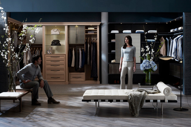 His And Her Closet Contemporary Wardrobe